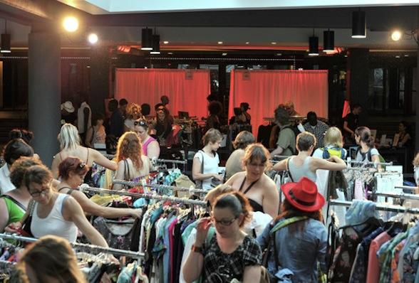 Mode bytte tøj tøjmarked