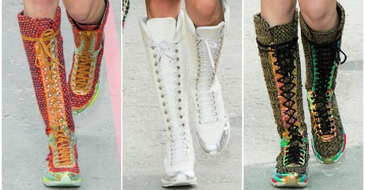 Chanel viser ny sneakermode på catwalken i Paris