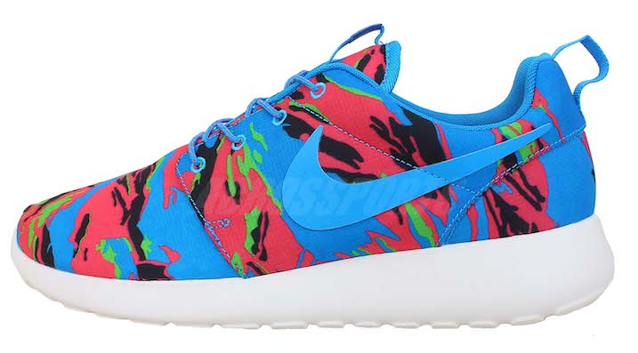 Nike Roshe Run GPX Tiger Camo Blue Hero