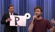 Daniel Radcliffe rapper igennem hos Jimmy Fallon