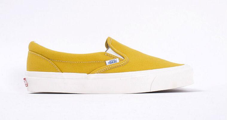 Vans Vault OG Classic Slip On LX Ceylon Yellow