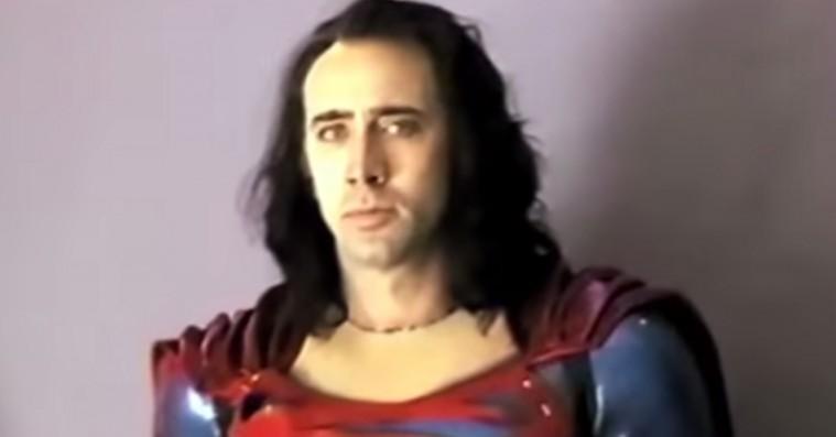 Se Nicolas Cage som Superman i glemt Tim Burton-film