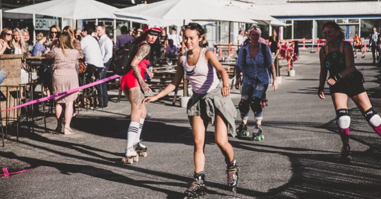 Billedgalleri: Strøm inviterede til rulledisco i Kødbyen