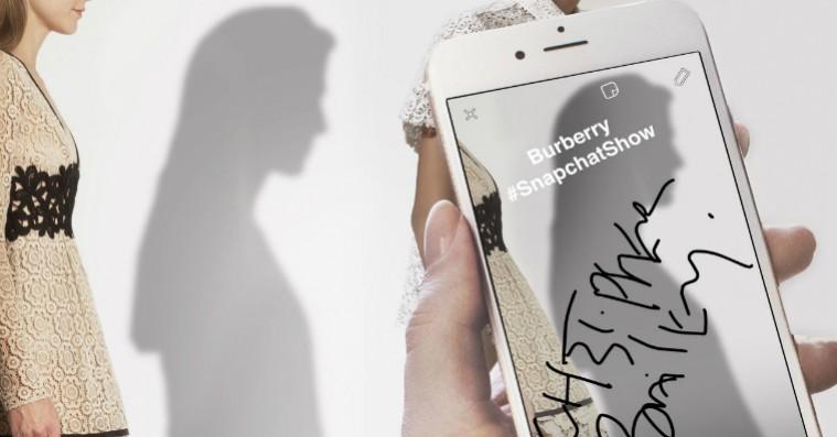 Fremtidens modeshow? Burberry afslører deres næste kollektion på Snapchat
