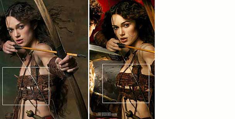 Kiera Knightlys barm blev lavet større på filmplakaten til 'Knights Tale'