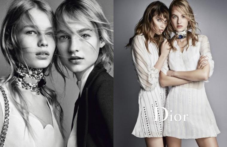 Fra Dior SS16-kampagnen, Raf Simons' sidste for modehuset