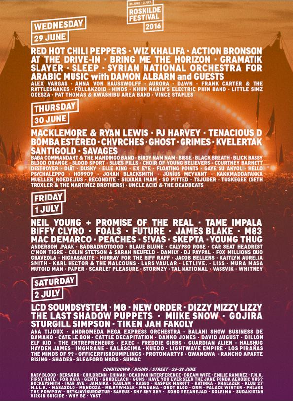 dato for roskilde festival 2016