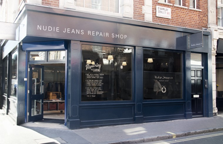 Nudie Jeans' repair shop i London