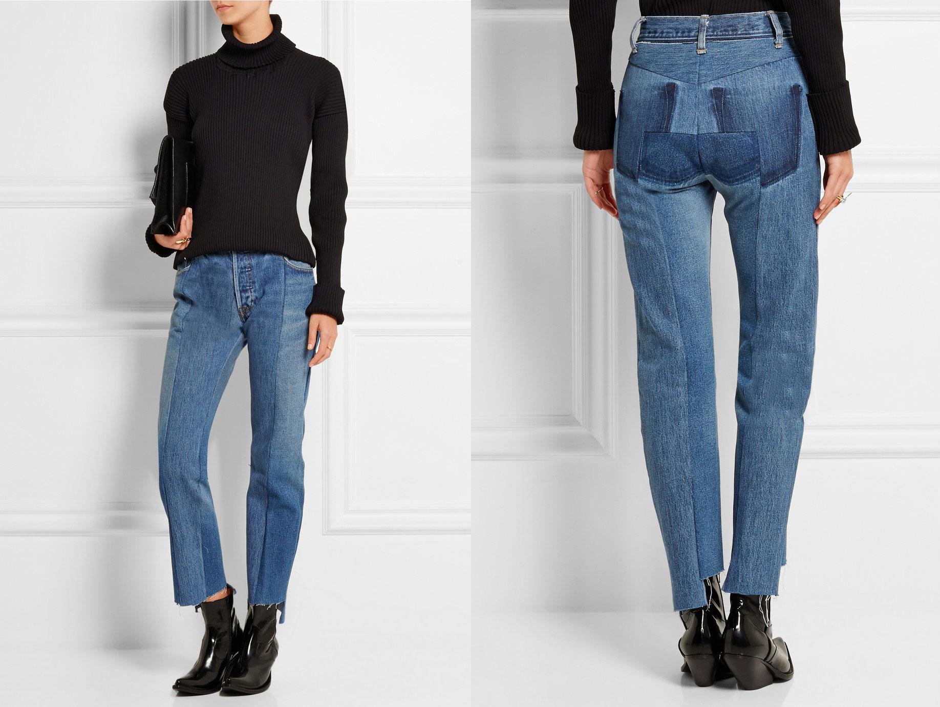 Et par af Vetements' unikke jeans