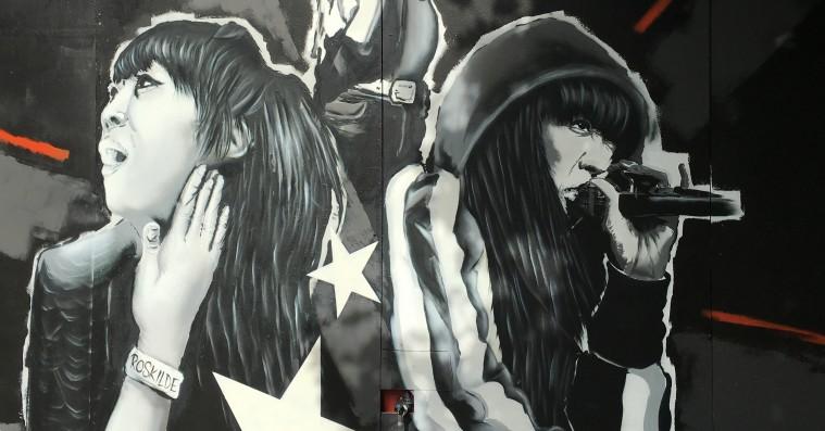 Linkobans minde æres på stort vægmaleri på Roskilde Festival