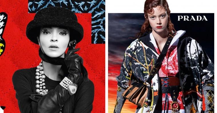 Chanel går old school med collager i mærkets efterårskampagne – Prada følger trop
