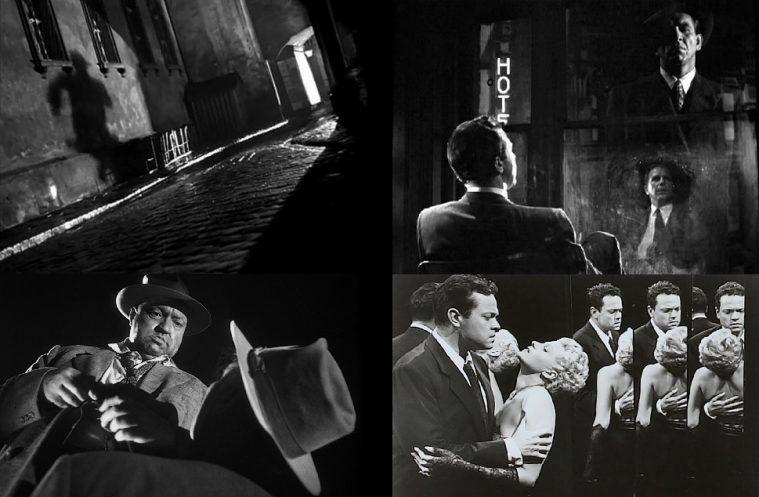 (Kælkede linjer, spejlmotiver og ekstreme perspektiver i 'The Third Man', 'Murder My Sweet', 'Touch of Evil' og 'The Lady from Shanghai')