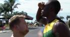 James Corden og Owen Wilson udfordrer Usain Bolt til 100 meter løb – gæt, hvem der vinder