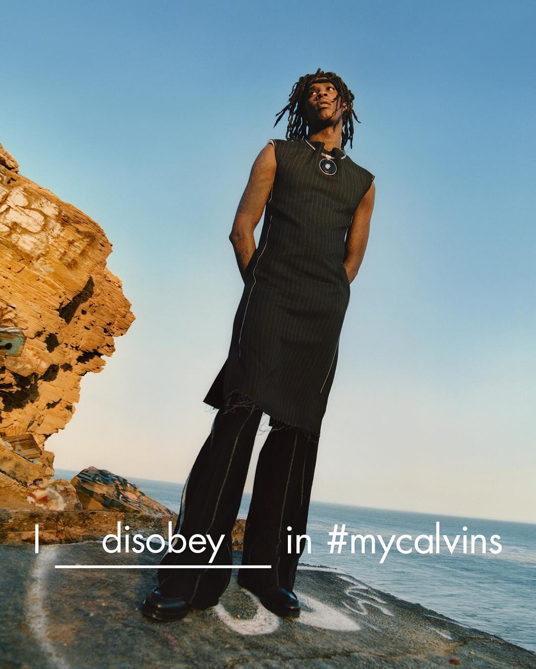 Young Thug i kjole i Calvin Klein-kampagnen