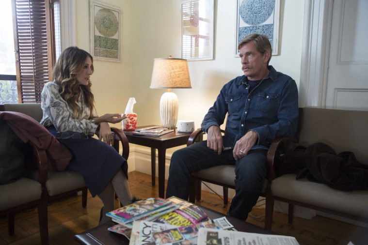 Sarah Jessica Parker og Thomas Haden Church i 'Divorce'.