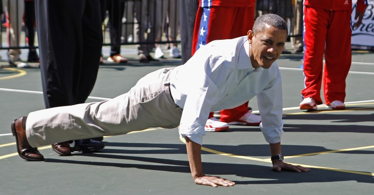 Stræk og bøj: Se Barack Obamas workout-playliste