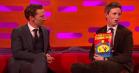 Hos Graham Norton: Se Eddie Redmayne forbløffe Benedict Cumberbatch med tryllekunster