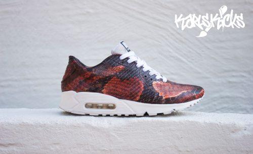Malet slangeskindsprint på Nike Air Max 90 Hyperfuse