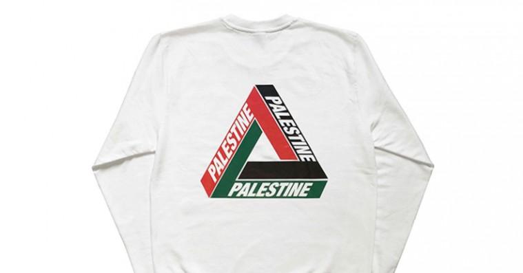 Bootlegger laver pro-Palestina-trøjer med Palaces logo – Novelist er fan