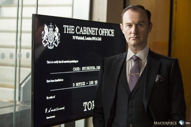 Sherlock, Season 4 premieres January 1, 2017 on MASTERPIECE on PBS. Picture shows: Mycroft Holmes (MARK GATISS)