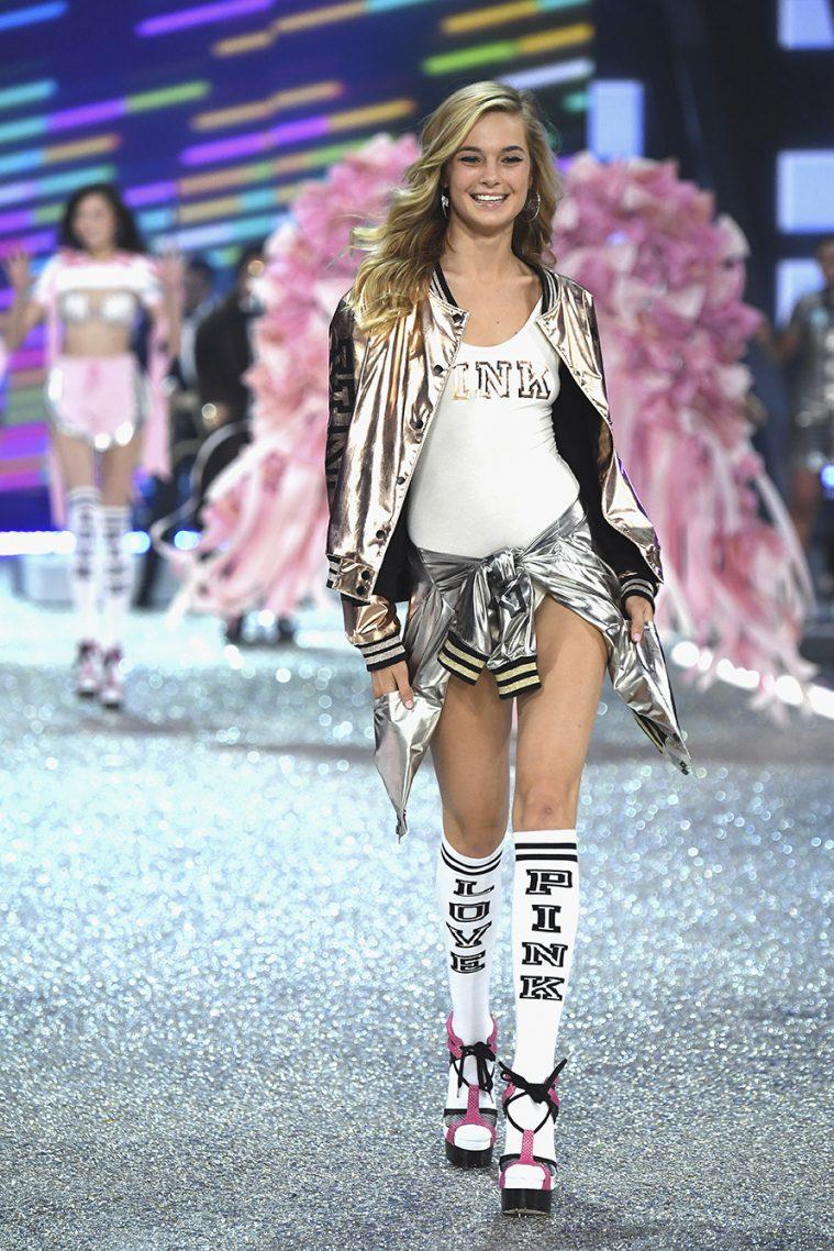 PARIS, FRANCE - NOVEMBER 30: Bridget Malcom walks the runway at the Victoria's Secret Fashion Show on November 30, 2016 in Paris, France. (Photo by Pascal Le Segretain/Getty Images for Victoria's Secret)