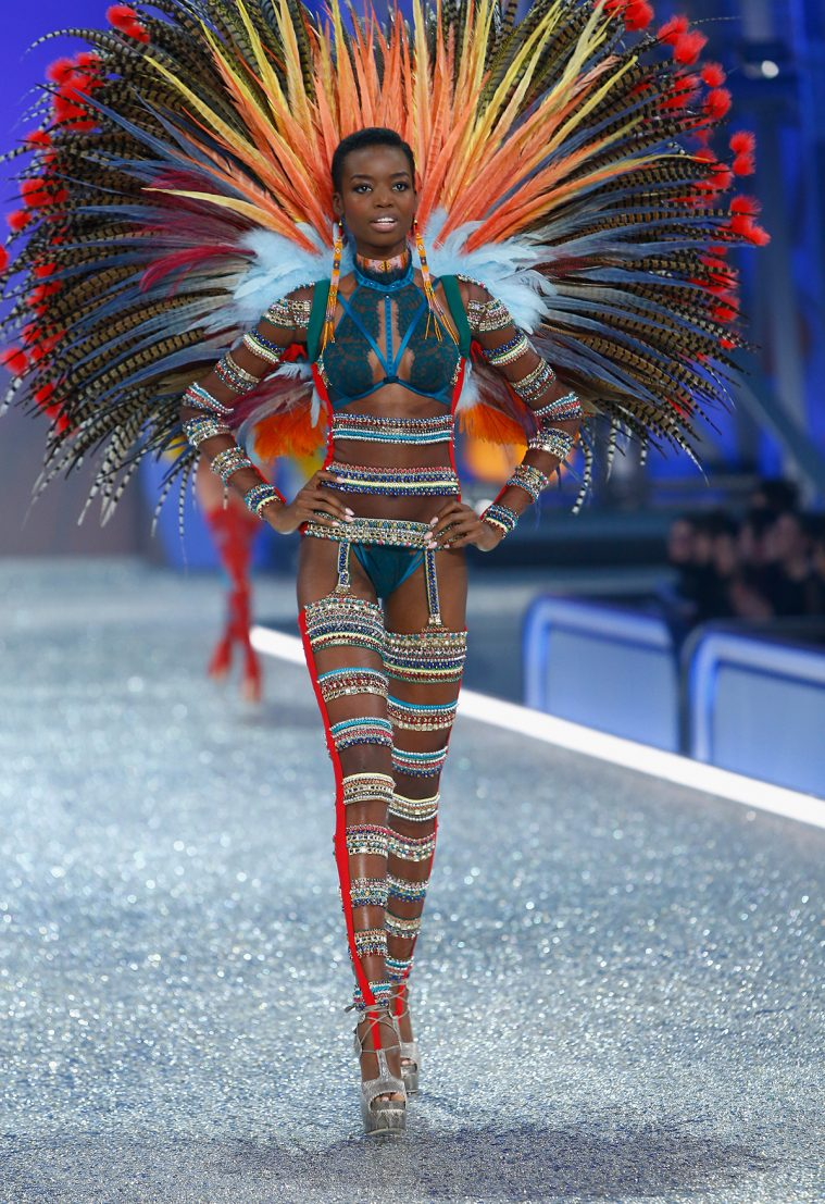 PARIS, FRANCE - NOVEMBER 30: Maria Borges walks on the runway with Swarovski crystals during Victoria's Secret Fashion Show on November 30, 2016 in Paris, France. (Photo by Julien M. Hekimian/Getty Images for Swarovski)