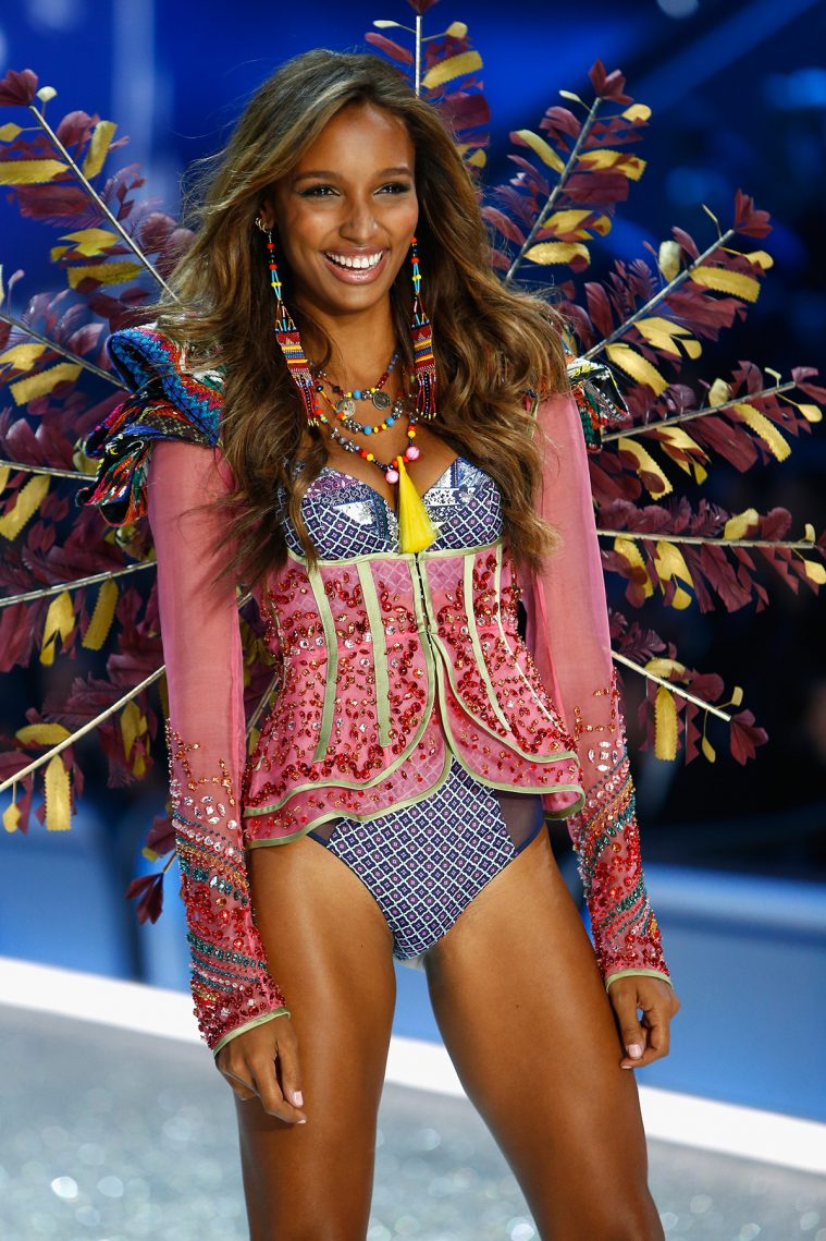 PARIS, FRANCE - NOVEMBER 30: Jasmine Tookes walks on the runway with Swarovski crystals during Victoria's Secret Fashion Show on November 30, 2016 in Paris, France. (Photo by Julien M. Hekimian/Getty Images for Swarovski)