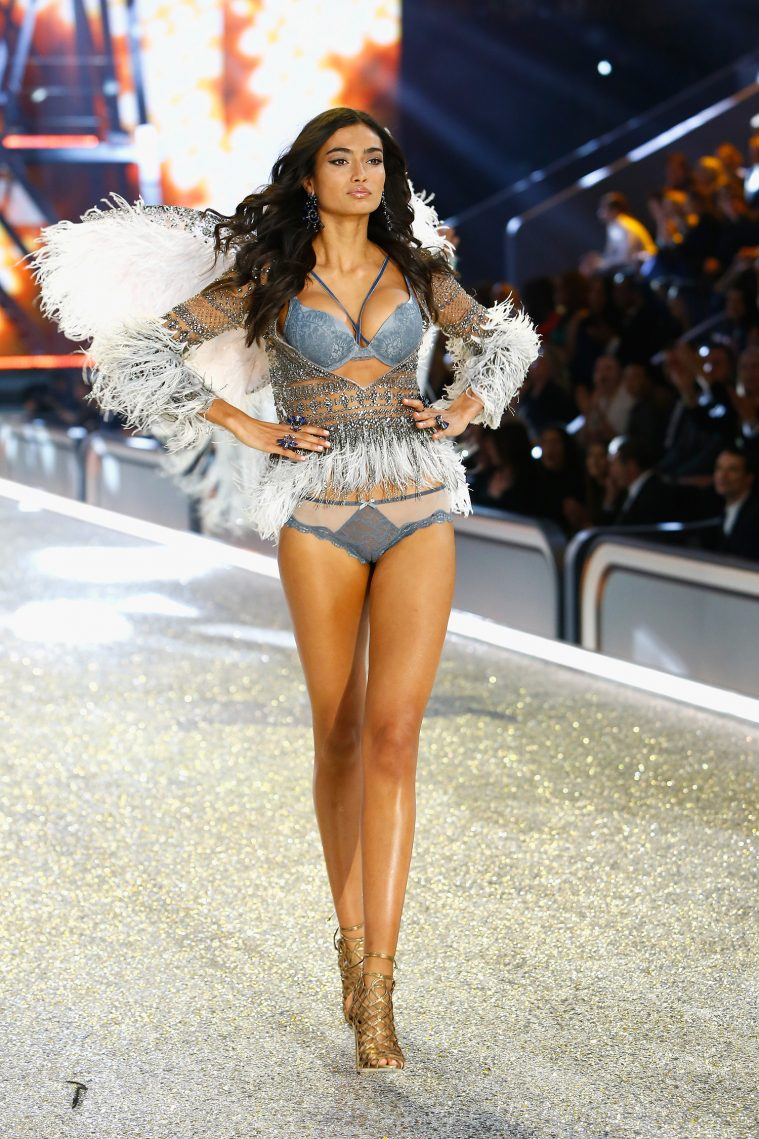 PARIS, FRANCE - NOVEMBER 30: Kelly Gale walks the runway with Swarovski crystals during Victoria's Secret Fashion Show on November 30, 2016 in Paris, France. (Photo by Julien M. Hekimian/Getty Images for Swarovski)