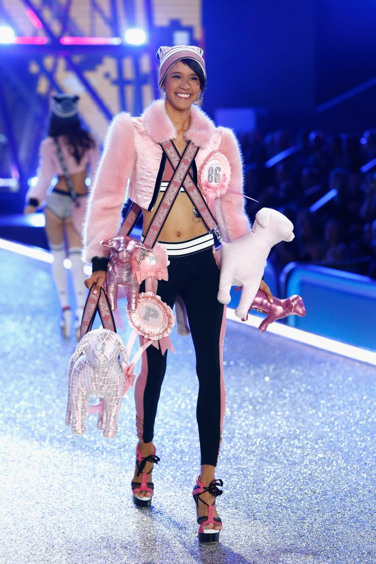 PARIS, FRANCE - NOVEMBER 30: Dilone Altagracia walks the runway with Swarovski crystals during Victoria's Secret Fashion Show on November 30, 2016 in Paris, France. (Photo by Julien M. Hekimian/Getty Images for Swarovski)