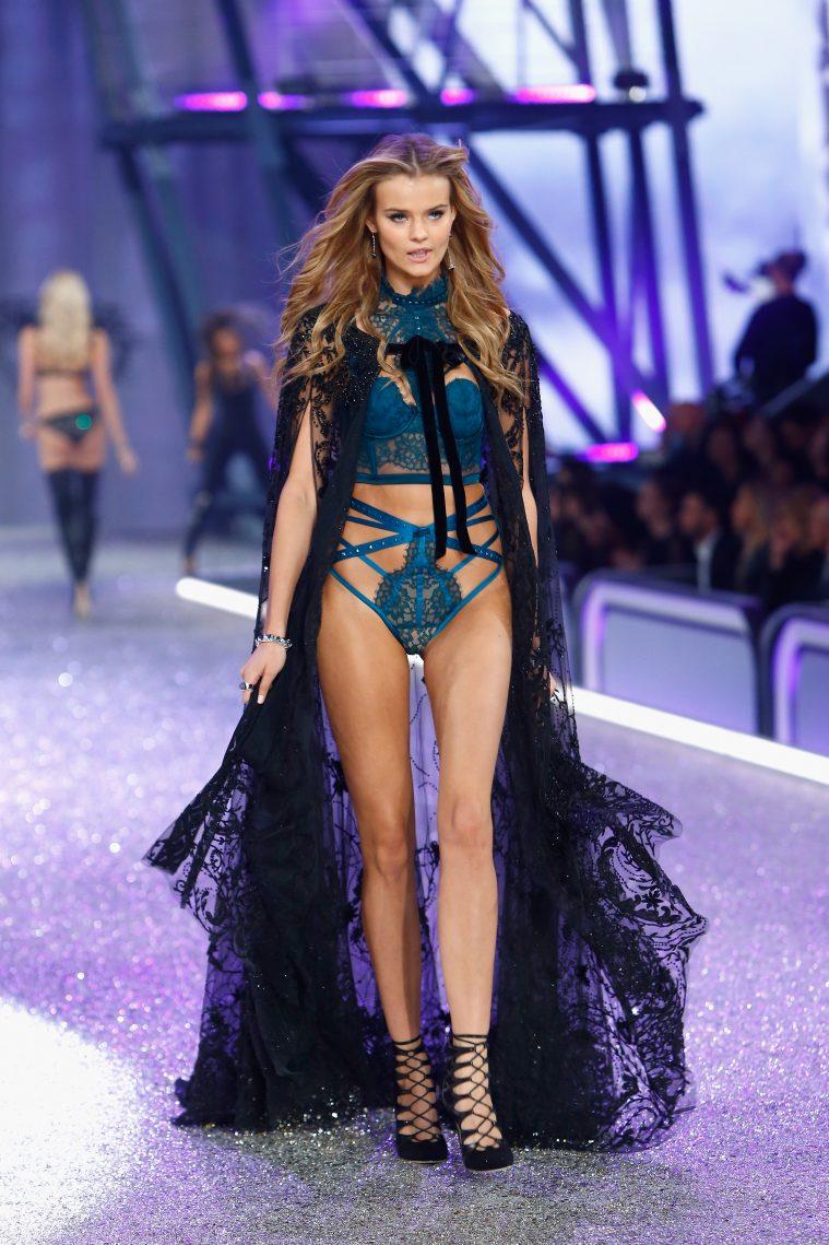 PARIS, FRANCE - NOVEMBER 30: Kate Grigorieva walks the runway with Swarovski crystals during Victoria's Secret Fashion Show on November 30, 2016 in Paris, France. (Photo by Julien M. Hekimian/Getty Images for Swarovski)