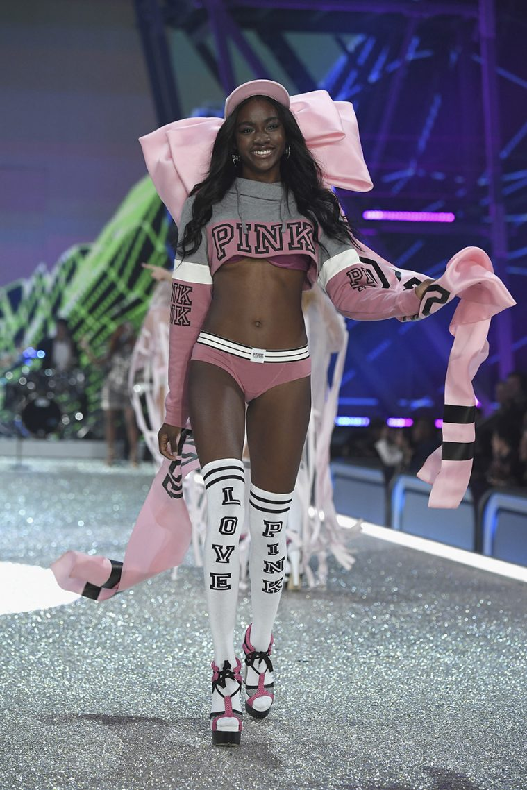 PARIS, FRANCE - NOVEMBER 30: Zuri Tibby walks the runway at the Victoria's Secret Fashion Show on November 30, 2016 in Paris, France. (Photo by Pascal Le Segretain/Getty Images for Victoria's Secret)