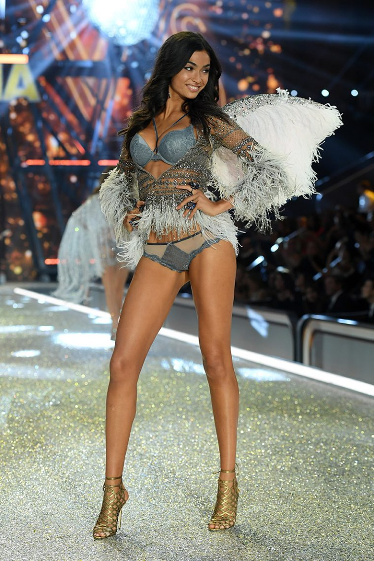PARIS, FRANCE - NOVEMBER 30: Kelly Gale walks the runway during the 2016 Victoria's Secret Fashion Show on November 30, 2016 in Paris, France. (Photo by Dimitrios Kambouris/Getty Images for Victoria's Secret)