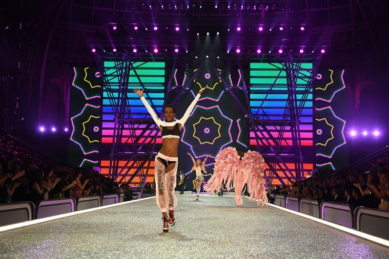 PARIS, FRANCE - NOVEMBER 30: Herieth Paul walks the runway during the 2016 Victoria's Secret Fashion Show on November 30, 2016 in Paris, France. (Photo by Dimitrios Kambouris/Getty Images for Victoria's Secret)