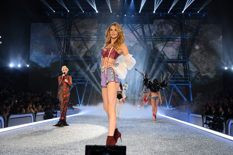 PARIS, FRANCE - NOVEMBER 30: Megan Williams walks the runway during the 2016 Victoria's Secret Fashion Show on November 30, 2016 in Paris, France. (Photo by Dimitrios Kambouris/Getty Images for Victoria's Secret)