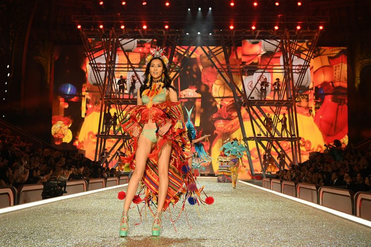 PARIS, FRANCE - NOVEMBER 30: Liu Wen walks the runway during the 2016 Victoria's Secret Fashion Show on November 30, 2016 in Paris, France. (Photo by Dimitrios Kambouris/Getty Images for Victoria's Secret)