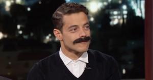 Rami Malek tester overskæg til sin rolle som Freddie Mercury hos Jimmy Kimmel
