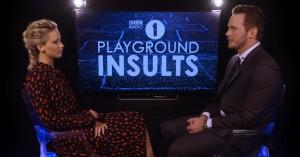 Jennifer Lawrence og Chris Pratt sviner hinanden til hos BBC – bryder sammen af grin
