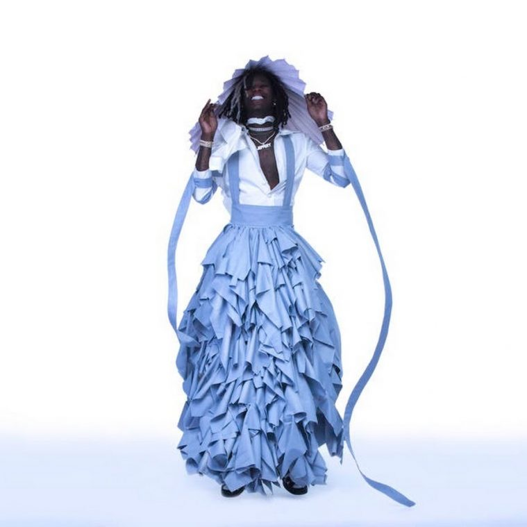 Young Thug i kjolen fra 'Jeffery'-coveret