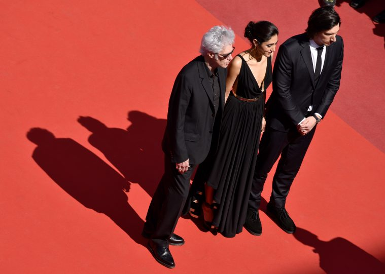 "CANNES, FRANCE - MAY 16: (L-R) Director Jim Jarmusch, Golshifteh Farahani and Adam Driver attend the ""Paterson"" premiere during the 69th annual Cannes Film Festival at the Palais des Festivals on May 16, 2016 in Cannes, France. (Photo by Clemens Bilan/Getty Images)"