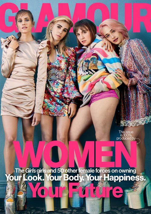 'Girls'-skuespillerne på forsiden af Glamour