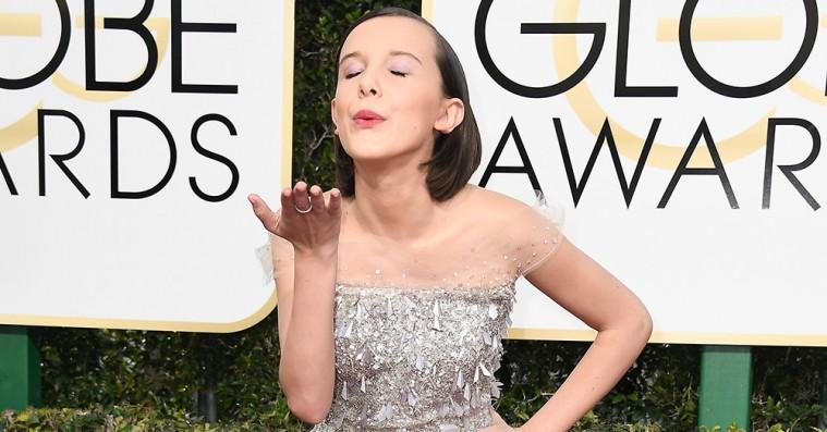 Den røde løber ved Golden Globes: Ædelt metal og grafiske linjer – og Ryan Gosling