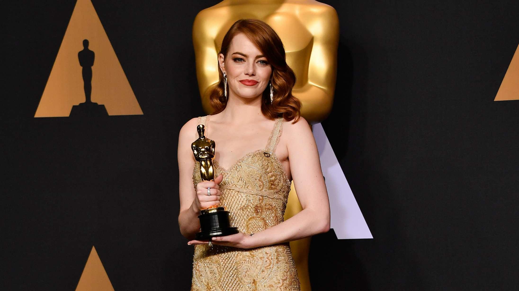 Emma Stone var besat af Leonardo DiCaprio som barn – gjorde Oscar-sejr til surrealistisk oplevelse