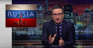John Oliver laver popsang, der advarer Trump mod Putin