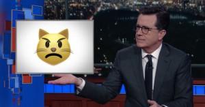 Stephen Colbert oversætter unges emoji-koder efter latterlig skræmmekampagne