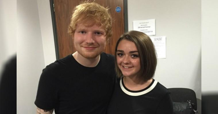 Maisie Williams' idolisering af Ed Sheeran sikrer ham en cameo i 'Game of Thrones'