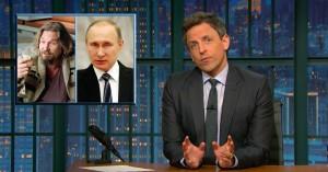 Donald Trump minder om The Dude i 'The Big Lebowski', konstaterer Seth Meyers