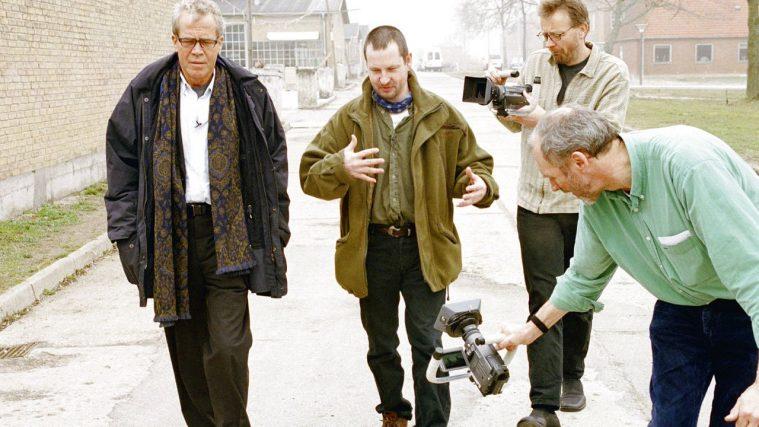 Jørgen Leth og Lars von Trier under 'De fem benspænd'