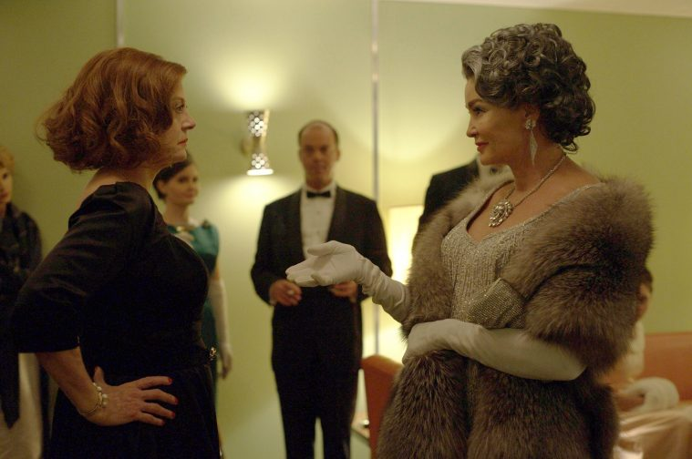 """Susan Sarandon, left, with Jessica Lange in """"Feud."""" """"Television has stepped into the void that movies left for actresses,"""" Lange says. MUST CREDIT: Suzanne Tenner, FX"""