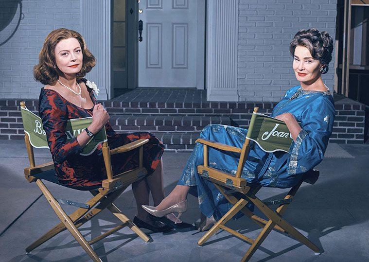 Susan Sarandon som Bette Davis og Jessica Lange som Joan Crawford i 'Feud: Bette and Joan'