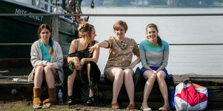Shoshanna, Jessa, Hannah og Marnie i bedre tider.